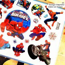 ❤️ NOUVEAU SPIDERMAN MARVEL SUPER HERO 20 TATOUAGES TEMPORAIRES ENFANT ÉTANCHES