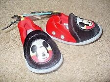Mickey Mouse Disney Boys Infants Slippers Black & Red Shoes Size 3