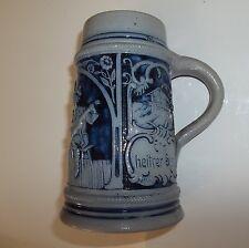 Antique German Salt Glazed Beer Stein 0.5 Liter
