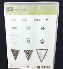 Set of 13 Stampin Up PENNANT PARADE Stamps Inspire Create Share 122742