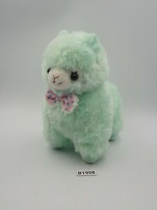 "Alpaca B1908 Mint Green Alpacasso Amuse Plush 6"" Stuffed Toy Doll Japan"