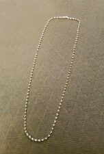 "STERLING SILVER SPIRAL ROPE CHAIN NECKLACE 22"" - from Italy"