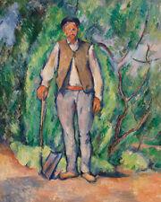 Gardener by Paul Cézanne 60cm x 48cm Art Paper Print