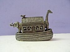 """Metal Tin Noah s Ark Figure 4"""" long a 2.6"""" high Kies voor de Natuur 25 jaar WNF"""