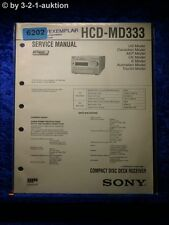 Sony Service Manual HCD MD333 Mini Component System (#6202)