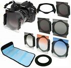 ND2/ND4/ND8 + 77mm Ring Adapter + Filter kit for Canon Nikon Cokin p series
