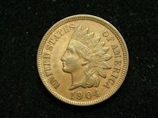 SUMMER SALE!!  AU 1904  INDIAN HEAD CENT PENNY w/ FULL LIBERTY & DIAMONDS #79c
