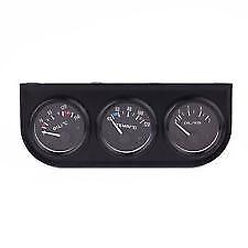 "SALE- Speco Meter Automotive 2"" 51MM  Black Triple Gauge Holder Panel #541-03"