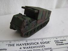 toy armor- HO? 1/72?- MLRS- multiple rocket launcher (metal & plastic)