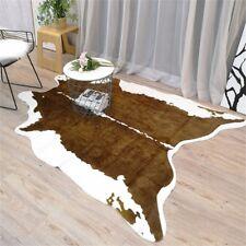 Brown Cow Rug Faux Fur Animal Zebra Cow Skin Pelt Hide Rug 6.6'x4.6' Carpet Home