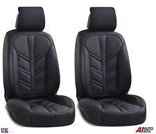 Deluxe Black PU Leather Front Seat Covers Padded For Renault Megane Clio Kadjar