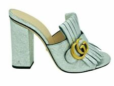 Womens Designer Gucci Marmont High Mules sandals shoes