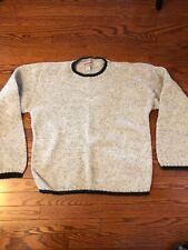 Woolrich Men's Outdoorwear Sweater Men's XL Tan and Green Wool Vintage USA