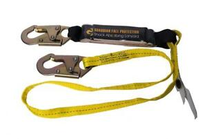 Guardian Fall Protection 01220 6-Foot Single Leg Shock 6-Foot, yellow