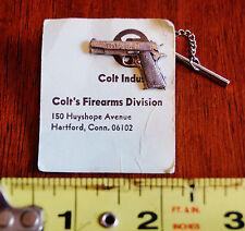 Colt Firearms 45 Cal 1911 Tie Tack Horse on Gun