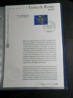 NOTICE FDC DOCUMENT 1° JOUR 2007 TRAITE DE ROME, CEE, EUROPE