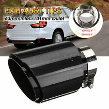2.5'' 63mm-101mm Universal Rear Tail Exhaust Pipe Trim Muffler End Tip Carbon AU