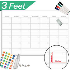 Large Dry Erase Board Calendar Monthly Organizer Home Office Wall Week Planner