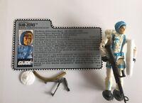 "Vintage 1990 GI Joe 3.75"" SUB-ZERO v1 ~~ Figure & File Card"