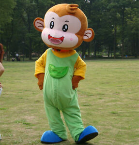 Monkey Mascot Cartoon Costume Party Suit Cosplay Rompers Animal Unisex Christmas