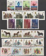 Gb 1978 Completo year-set de Conmemorativas 6 Fine Used Series De Estampillas En Pieza