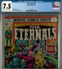 ETERNALS #8 CGC 7.5 OW-W, 1977 all KIRBY issue:  upcoming movie
