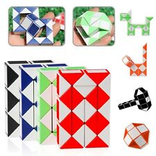 Snake Rubiks Rubix Rubic Magic 3D Cube Game Puzzle Toy Party Travel Child Gift