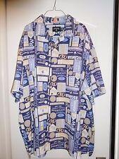 RocaWear Hawaiian Camp Shirt Signature Size XXXL 3XL Polyester Short Sleeve