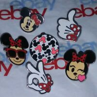 6 DIFFERENT Minnie Mouse Official Disneyland Hidden Mickey Head Rare Pin Lot Set