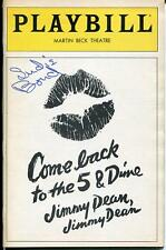 SUDIE BOND ACTRESS IN MARY HARTMAN MARY HARTMAN SIGNED PLAYBILL AUTOGRAPH