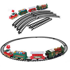 Battery Operated Snowman and Carriage Christmas Train Set With Lights and Smoke