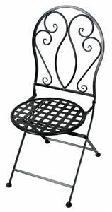 Primaster Metall Stuhl Provence Eisen Schwarz Gartenstuhl