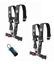 "Pro Armor 5 Point 3"" Seat Belt Harness PAIR BYPASS BLACK Commander / Maverick X3"