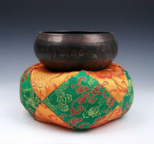 Tibetan LARGE Silk Dragon Flowers Pillow Cushion Stand Easel For Singing Bowl #G