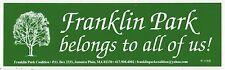 FRANKLIN PARK Boston JAMAICA PLAIN Massachusetts BUMPER STICKER Zoo JP Mass MA