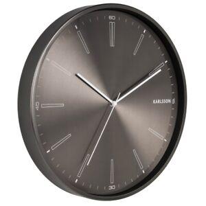 Karlsson Wanduhr Distinct gun metal – Die zeitlose Uhr für dein modernes Zuhause