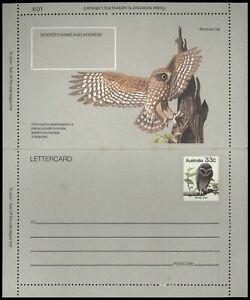 Australia Sooty Owl Bird, Unused Letter Card #C58299