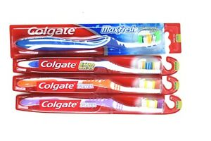 Colgate Plus , Extra Clean, Maxfresh Medium Toothbrushes 4 pack New