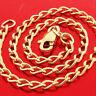 BRACELET BANGLE GENUINE REAL 14 K YELLOW VERMEIL GOLD FINE SOLID LINK DESIGN