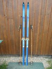 """GREAT  Cross Country 72"""" LAMPINEN 185 cm Skis + Bamboo Poles"""