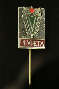 ORIG. SOVIET LATVIA USSR Varpa DSO Sport Club 1st Place Badge #405