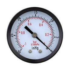 -30inHg/ -1bar Mini-cadran Manomètre Jauge de Pression d'air Vide