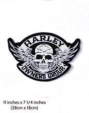 Patch Harley HOG Skull ( bikers back emblem ) XL