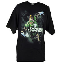 DC Comics Green Lantern Cast Super Hero Graphic Black Tshirt Tee Shirt 2XLarge