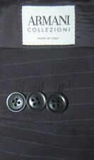 Mens 46 R  Armani Collezioni Navy Blue Wool Pin Stripe Suit  Flat 40 X 31