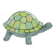 Mr Crimbo Tortoise Table Lamp Tiffany Style Panels Resin Base Battery Op 24cm