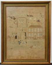 1770s colonial Maryland Schoolgirl Needlepoint Sampler House Catherine Cosden