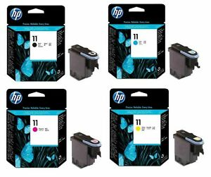 GENUINE HP11 BLACK / CYAN / MAGENTA / YELLOW PRINTHEADS – SWIFTLY POSTED
