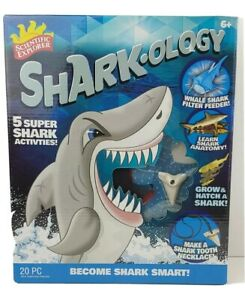 Sharkology Scientific Explorer Activity Kit Become Shark Toys New Learning board