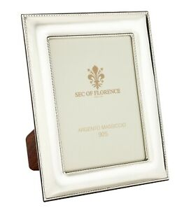 """6""""x8""""in Hallmarked Solid 925 Sterling Silver Photo Frame 7185/15x20 wood back UK"""